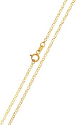 Full Solid Gold Mariner Chain Necklace Collier 333 8kt 50 x 1,60 mm