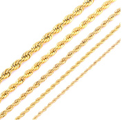 Unisex 316L Golden Stainless Steel Necklace Chain Mens jewellery Gold Plating Rope Chain Women Men Gold Fashion Rope Chain Jewellery
