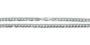 Curb Chain Necklace Curb Chain Sterling Silver 925 70 cm Long 8 mm Wide 55,5g