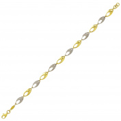 Gold Bracelet in 585 gold yellow and white gold Cz 3768