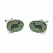 Sheep Dog Border Collie Cufflinks in Gift Box - Onyx-Art CK1082 Farm Farming