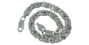 Small Curb Chain Bracelet made in Italy 925 Sterling Silver 215cm 6 mm Width 17g Weight