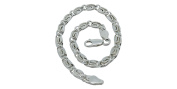 Small Curb Chain Made in Italy 925 Sterling Silver Bracelet 21.5 cm Width