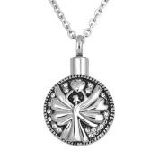 Korliya Angel Urn Necklace For Ashes Memorial Keepsake Pendant Cremation Jewellery