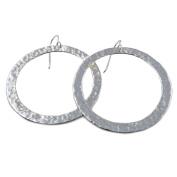 Large Hoops 925 Silver Circle Earrings