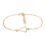 Cordoba Jewels |pulsera in 925 Sterling Silver Gold Vermeil with Simple Design Triangle Gold