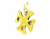 PEGASO Jewellery Pendant – 18 KT Yellow and White Gold Plate Double Clover – pendant two-tone Women Girl
