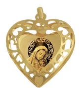 Madonna Mary Holding Baby Jesus Gold Pendant 585 14-Carat