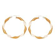 Hoop Earrings Bicolor 333 8ct Yellow Gold Stud Drop Earrings