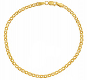 Bracelet Nonnakette 585 14KT Yellow Gold Chain Bracelet Double Curb Chain