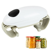 Automatic Can Opener, Justdolife Electric Can Opener Double Heads Portable Electric Jar Opener for Kitchen