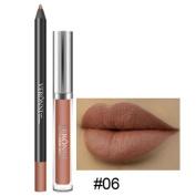 Xinantime Waterproof Long Lasting Matte Lipstick Liquid Gloss Lip Liner Cosmetics Set