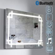 Illuminated LED Bathroom Mirror Light Sensor + Demister + Shaver Socket + Bluetooth