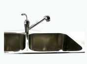 80cm x 60cm x 20cm Top Mount, 50/50 Double Bowl, 18 Gauge, 304 Stainless Steel Kitchen Sink