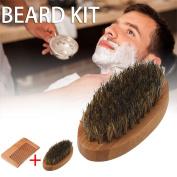 Vin beauty Beard Brush and Beard Comb kit for Men Grooming With Handmade Wooden Comb Set for Men New