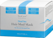 SeaCare DEAD SEA HAIR MUD MASK 250g, 100% NATURAL AND ORGANIC, RESTORE MOISTURE AND STRENGTHEN HAIR