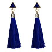 Oyedens Women Bohemian Ethnic Hanging Rope Tassel Earrings Statement Dangle Earrings