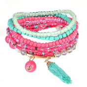 Yosemite Women Tassels Bead Pendant Multilayer Boho Bracelet Beach Jewellery Gift