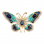 Profusion Circle Fashion Butterfly Rhinestone Brooch Pin Breastpin Jewellery for Wedding Party