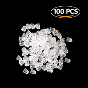 Vikenner 100 Pcs Clear Rubber Bullet Clutch Earring Safety Backs Ear Nuts Earring Keeper for DIY Jewellery Supplies
