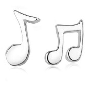 Lucklystar® Earrings Music Note Shape Stud Earrings. Hypoallergenic for Birthday Valentine's Day Gift HÄNGER1 Pair