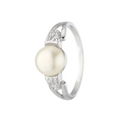 Pearlie White Cultured Pearls and 925 Sterling Silver Ring - Perfect Gift Idea