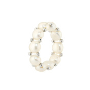 Princess Elastic Beaded White Ring Perfect Gift Idea
