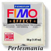 Craft 1 Bread White Fimo Effect Polymer Clay Pate Metal Effect Ref