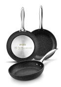 Monix Mineral Set of Frying Pans, Forged aluminium, grey, 26 cm