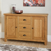 New luxury oak Wiltshire Wide Sideboard an elegant look to any home.