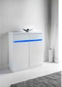 New Alaska 2 Drawer Sideboard - WHITE generous dimensions provide plenty of storage space.