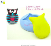 d068 Fimo Mould Mould Silicone owl owl