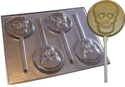 Skull Round Chocolate Lollipop Mould Halloween Lolly Mould