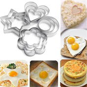 timeracing 12PC Kitchen Stainless Steel Cake Cookie Mould Fried Egg Fondant Baking Mould Sugarcraft Cutter