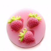 Silicon Strawberry Cake Fondant Mould Creative Baking Mould Ice Mould Multifunction Kitchen Tools