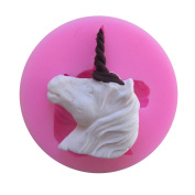 Unicorn Head Silicone Fondant Moulds for Soaps Candy Chocolate Gummies Clay Making Cake Moulds Baking Tools Shape Mould