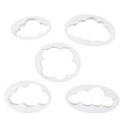 5Pcs Cute Cloud Plastic Fondant Cutter Cake Moulds Moulds Cake Decorating Tools