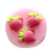 Homyl 3D Silicone Strawberry Fondant Mould Cake Chocolate Sugarcraft Paste Mould