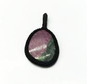GEM MART EU Macrame Pendent,Ruby Zosite Macrame Pendent,Handmade Natural Gemstone Pendant,Boho Pendant.
