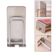 Onpiece Stainless Steel Toothbrush Gargle Cups Suction Cup Holder Stand Rack Bathroom