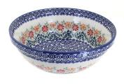 Polish Pottery Garden Bouquet Large Serving Bowl