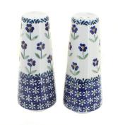 Polish Pottery Blue Daisy Salt & Pepper Shakers
