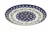 Polish Pottery Blue Violet Lunch Plate
