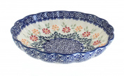 Polish Pottery Garden Bouquet Medium Scallop Bowl