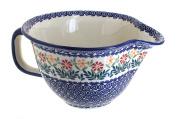 Polish Pottery Garden Bouquet Batter Bowl