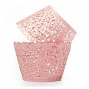 Kslong 50pcs Hollow Cake Surrounded Cups Birthday Party Decoration Kitchen Baking Tool Cupcakes Bake Mould Wrappers