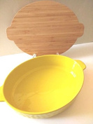 Ceramic Baker Dish with Bamboo Cover/Trivet by Nantucket Home -