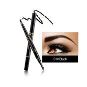 RELEASE BEAUTY Waterproof Retractable Long Lasting Eyebrow Pencil Eye Black Number 1
