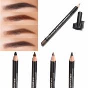 Bureze 4 Colours Waterproof Eyebrow Pencil Pen Brush Makeup Cosmetic Beauty Tools