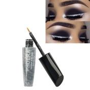 Pu Ran Women Glitter Shimmering Liquid Eyeliner Shiny Eye Makeup Cosmetic Beauty Tool - 1#Silver